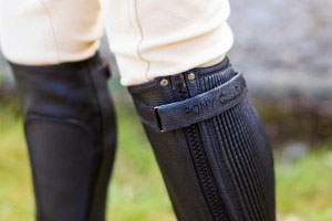 Pony Club Riding Chaps Black Leather