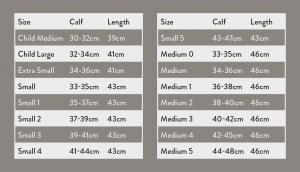 Saltos Leather Gaiters sizing Guide