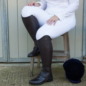 leather gaiters in wider fit