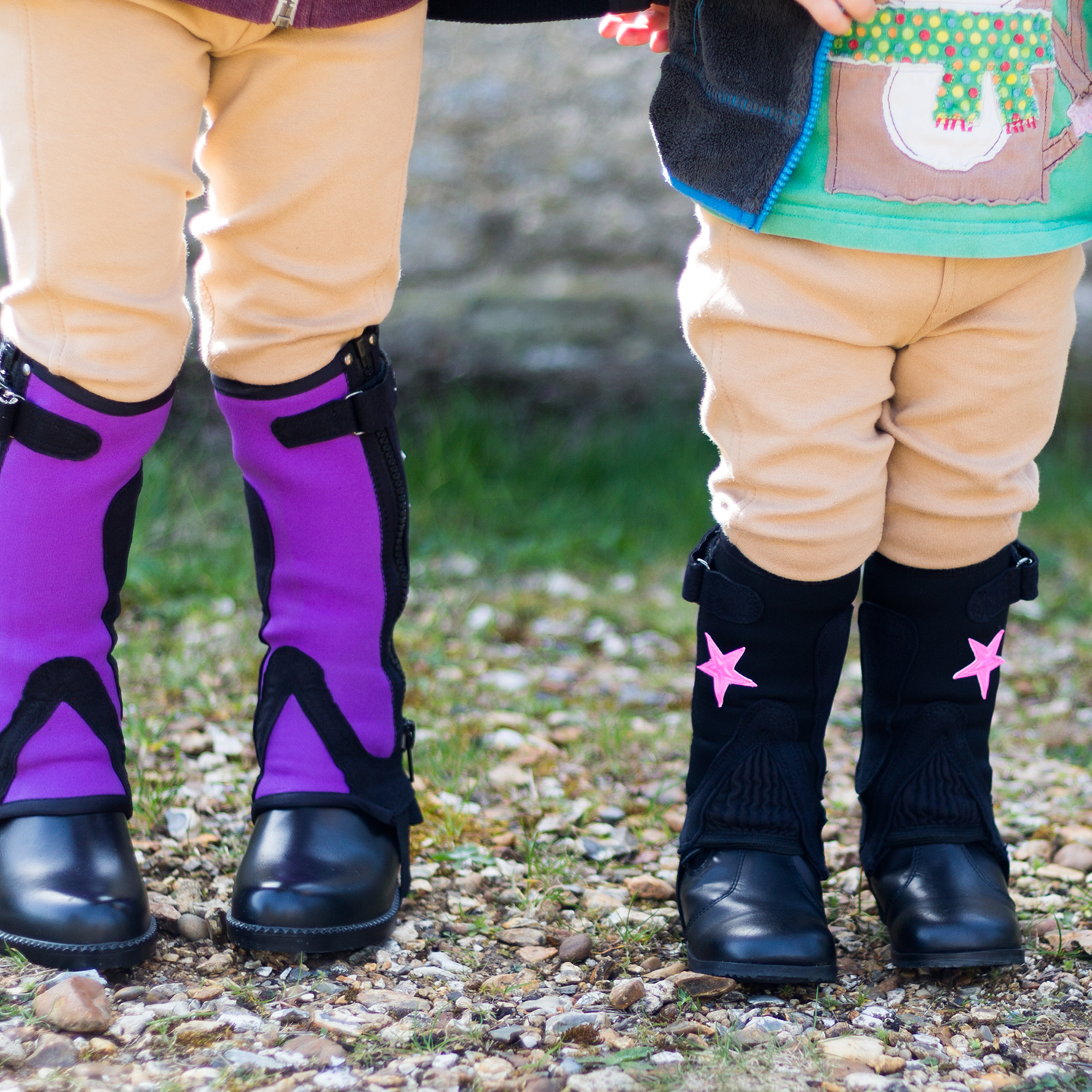 Kids//Adults Washable  Equi-leather horse riding gaiters Leg Protector//half chaps