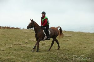 Endurance rider, Abbi Tennant, competes on Djelanza in the Home International
