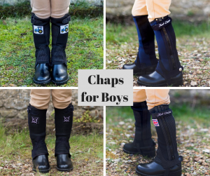 photo showing half chaps for boys