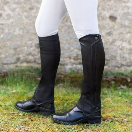 Saltos Half Chaps in Premium Leather (Child)